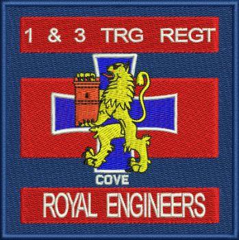 1 & 3 Trg Regt Embroidered badge